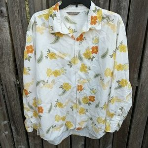 Tommy Bahama Tencel Button Front Shirt XL Blouse